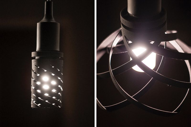 Woven Shape-Shifting Hanging Lights