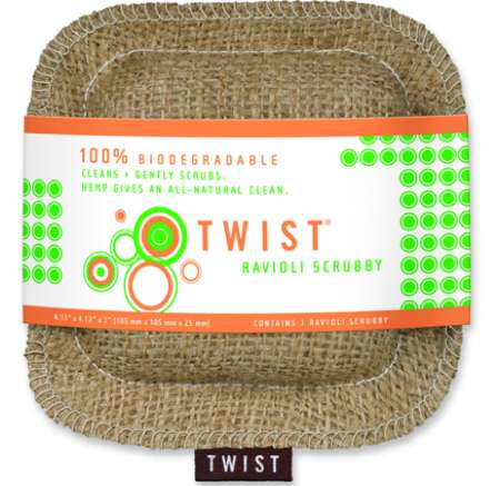 Biodegradable Kitchen Sponges Twist Cleaning Products Are