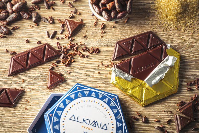 Hexagonal Two-Ingredient Chocolates