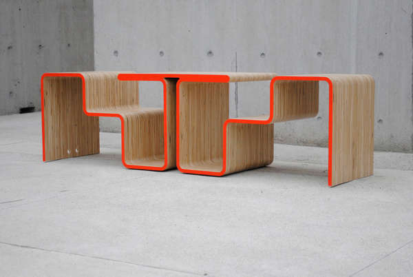 Continuous Line Dual Seating Twofold Bench