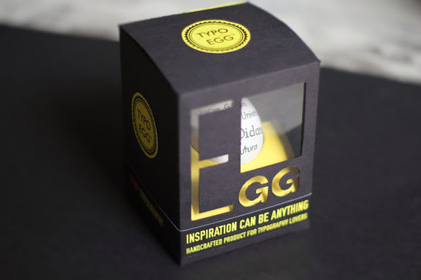 Typographical Easter Eggs Typo Egg Packaging