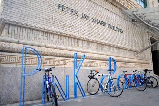 Typographic Bike Racks