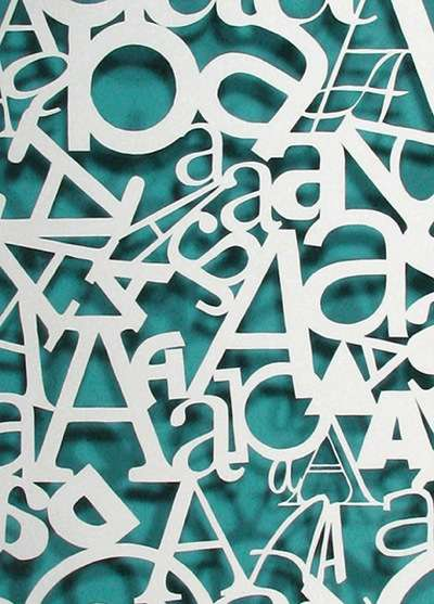 Hand-Cut Typography Posters