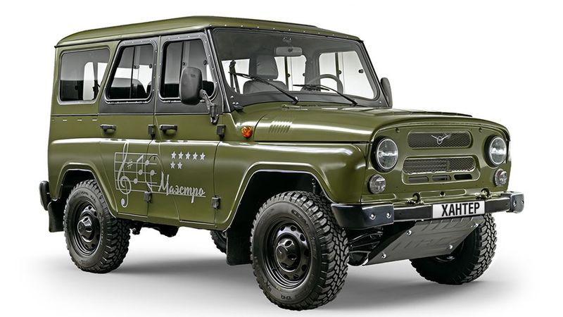 water wading trucks uaz hunter. Black Bedroom Furniture Sets. Home Design Ideas