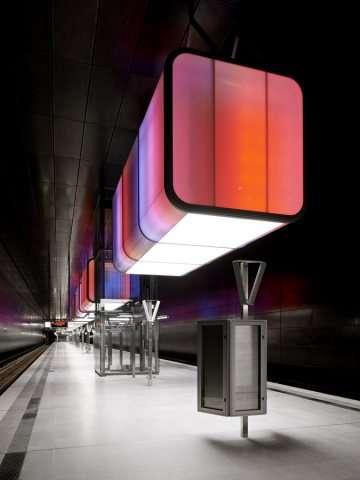 Disco-Inspired Transit Stops