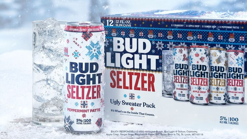 Ugly Sweater-Themed Seltzers