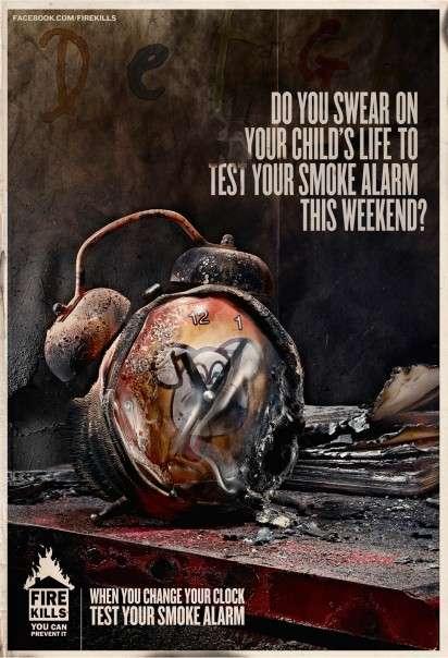 Burned Clock Ads
