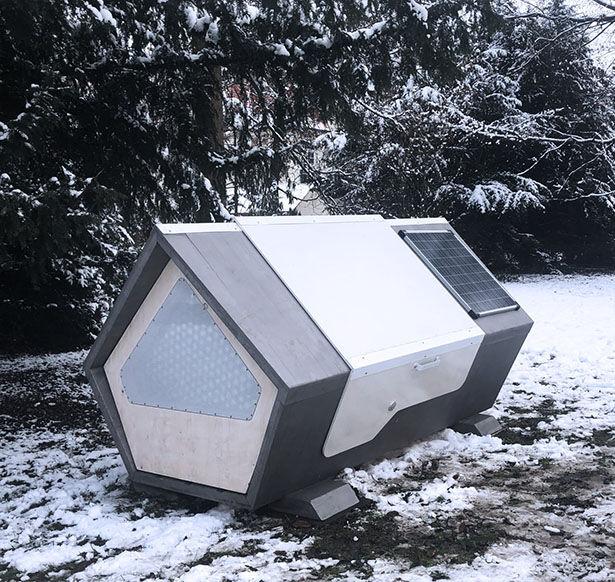 Solar-Powered Homeless Sleep Pods