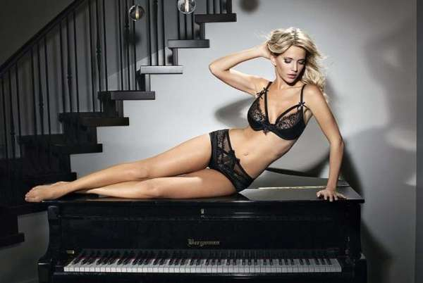 Piano-Perching Lingerie Ads