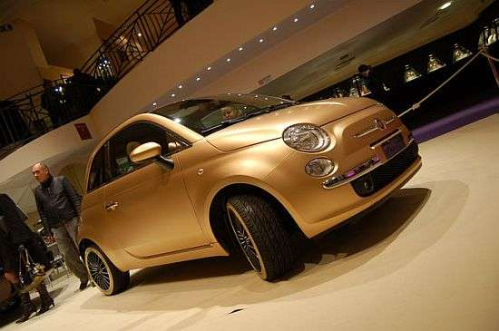 24k Gold Paint Job Modified Fiat 500 Pepita