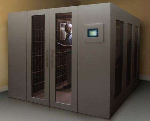 Ultra luxury wine vaults walk in wine cellar for Walk in safes for homes