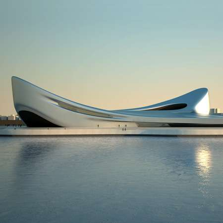 Airy, Sinuous Architecture