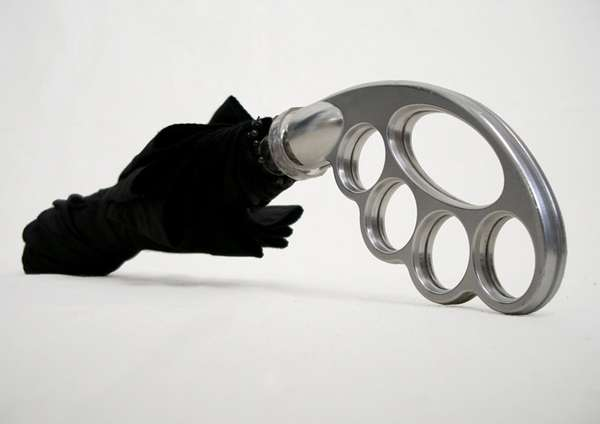 Brass-Knuckle Umbrella