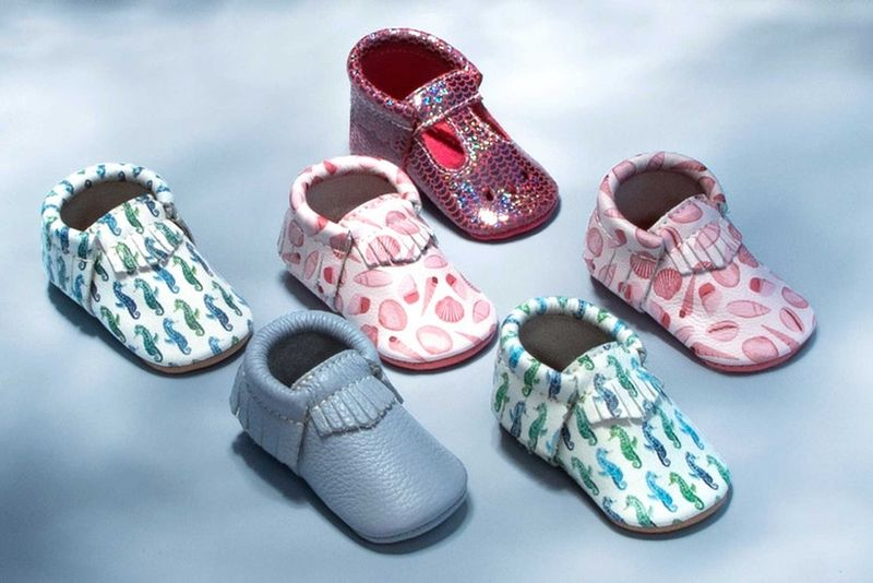 Ocean-Themed Baby Moccasins