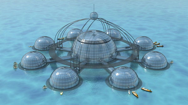 Self-Sustainable Underwater Biospheres
