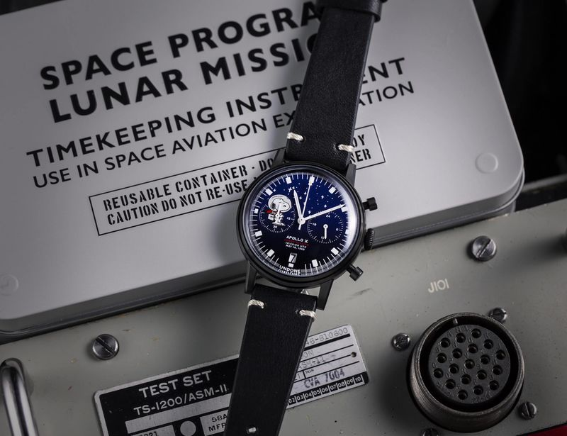 Cartoon Space Exploration Timepieces - The UNDONE x Peanuts Lunar Mission Watches are Celebratory (TrendHunter.com)