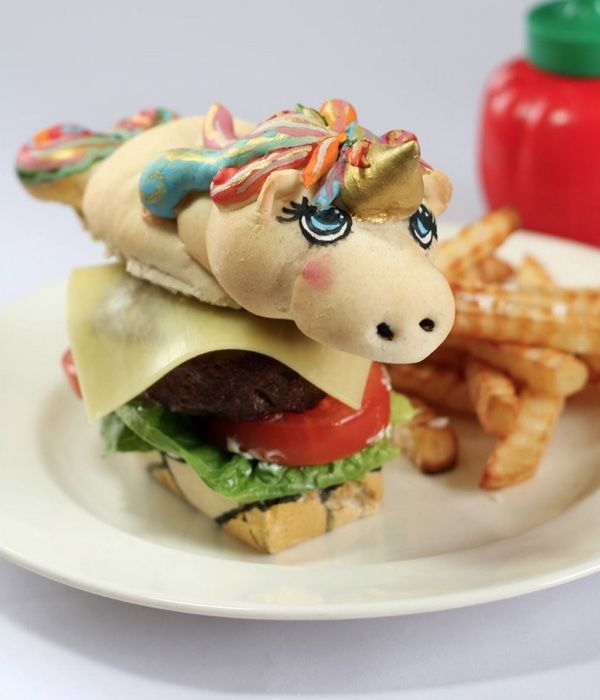 Unicorn Burger Buns