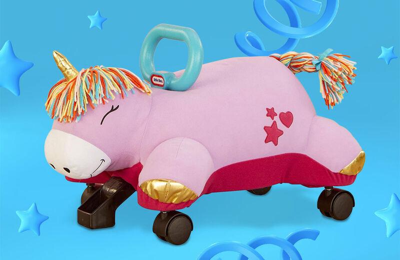 Plush Unicorn Scooter Toys