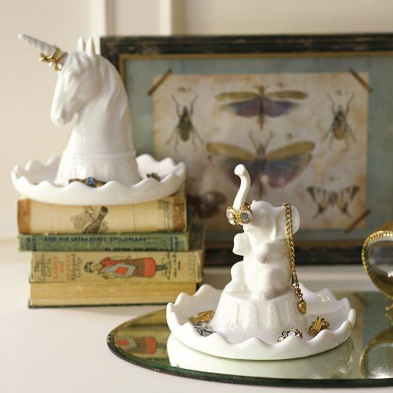 Charming Animal Jewelry Holders Unicorn Ring Holders