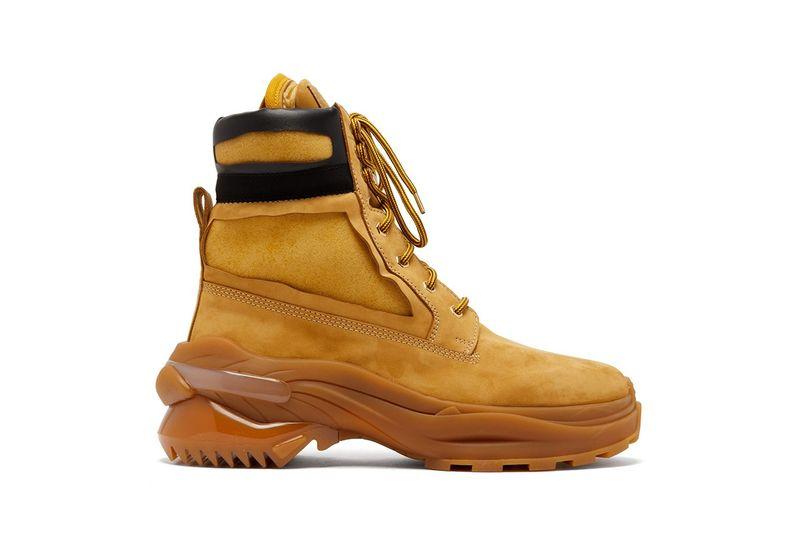 Utilitarian Nubuck Luxe Boots - Maison Margiela's New Union Booys Boast a Dramatic Sole Unit (TrendHunter.com)