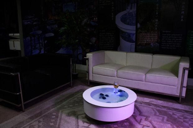 Jellyfish-Filled Aquarium Tables