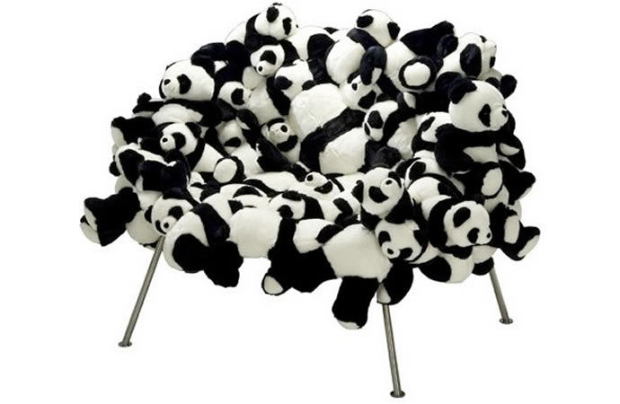 Stuffed Panda Seating