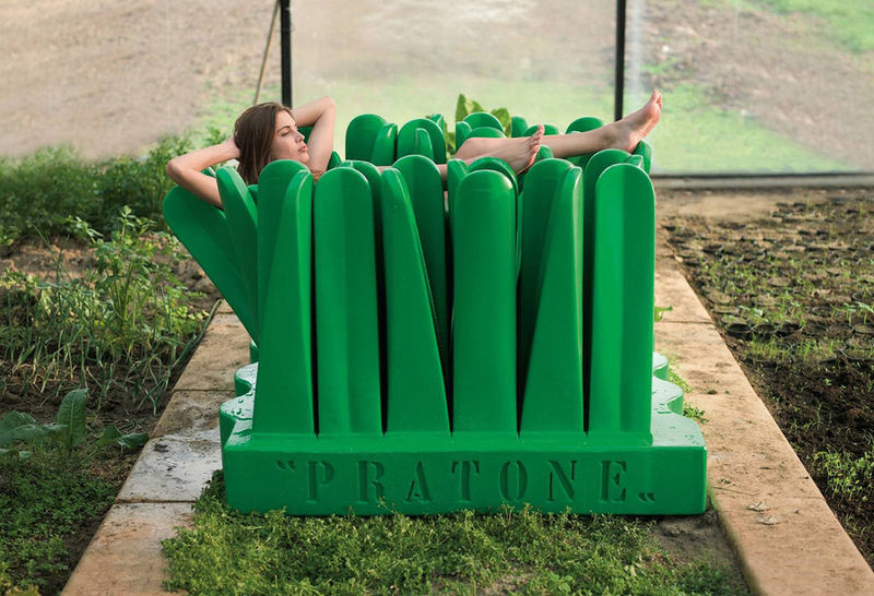 Structural Grassy Chairs