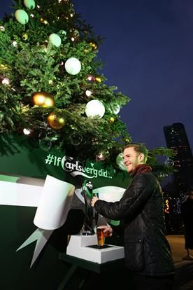 Beer-Dispensing Christmas Trees