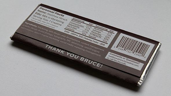 chocolate bar resumes   unique resume idea