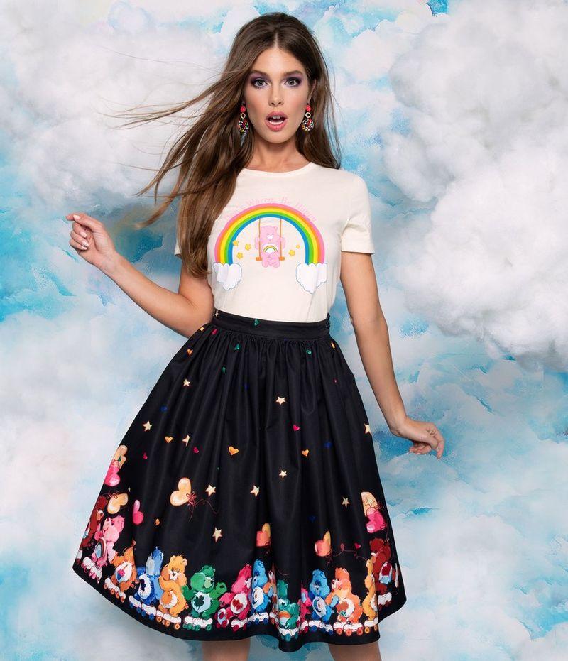 Retro Cartoon Bear Skirts