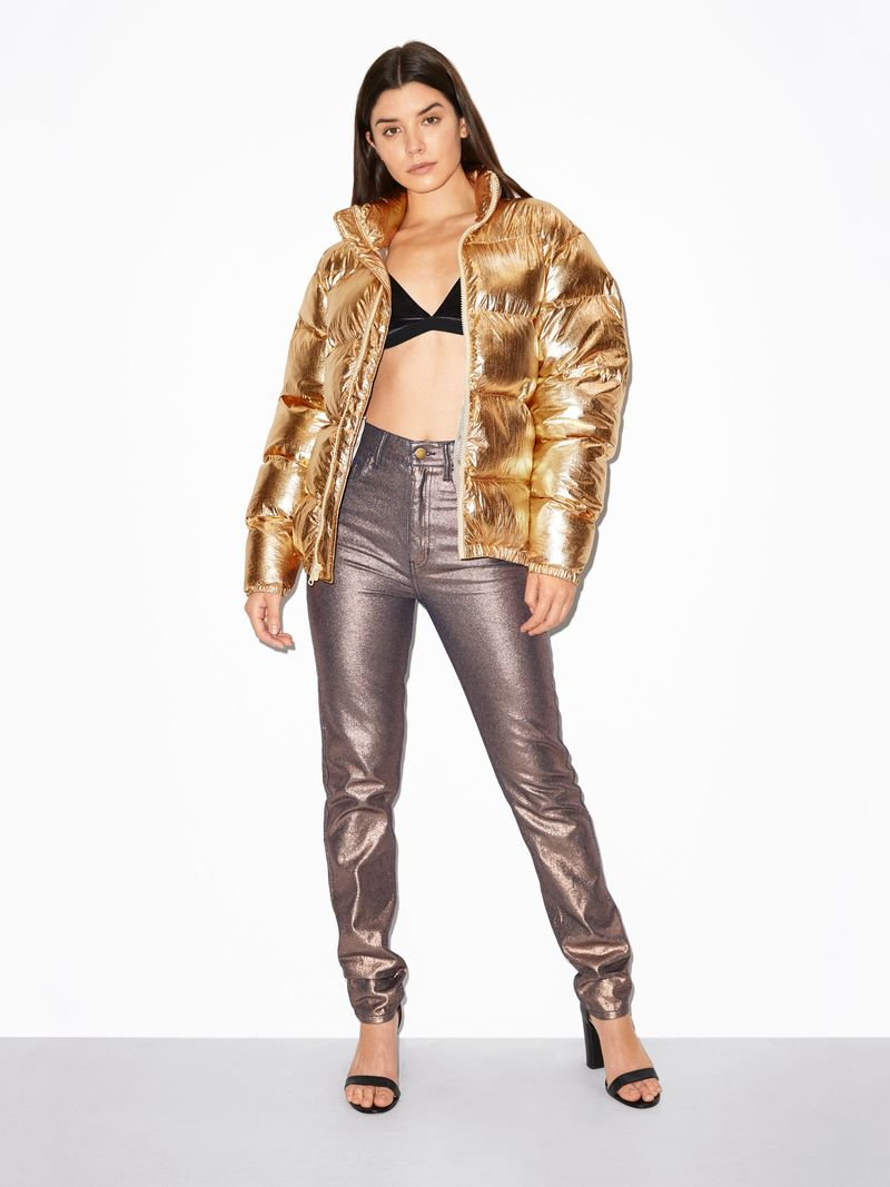 Dynamic Metallic Puffer Jackets