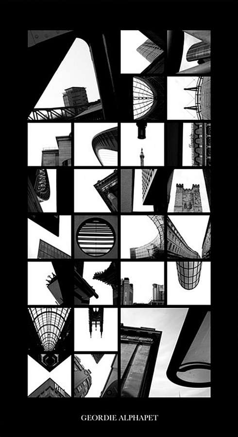 Abstract Architecture-Based Typography