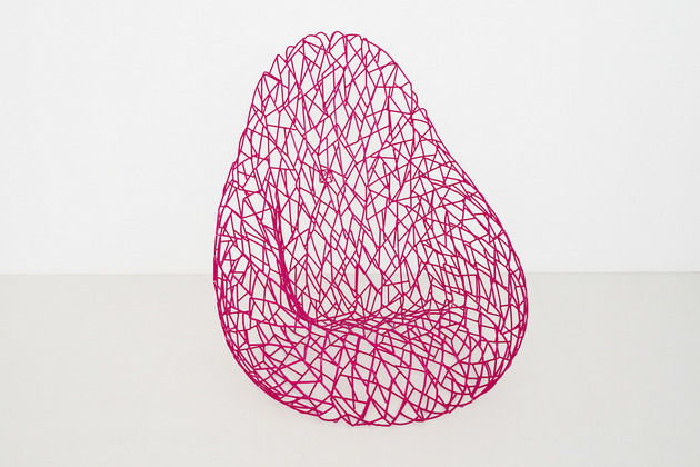 Pink Wireframe Chairs