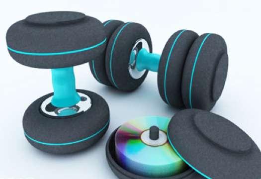Compact Disc Dumbbells