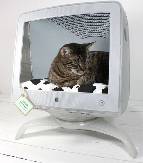 Upcycled Pet Bed Luggage Cat Cribs The Upcycled Pet Beds Are A Stylish Alternative