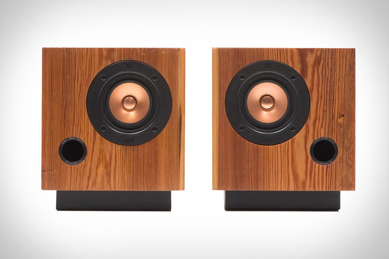 Reclaimed Cubic Speakers