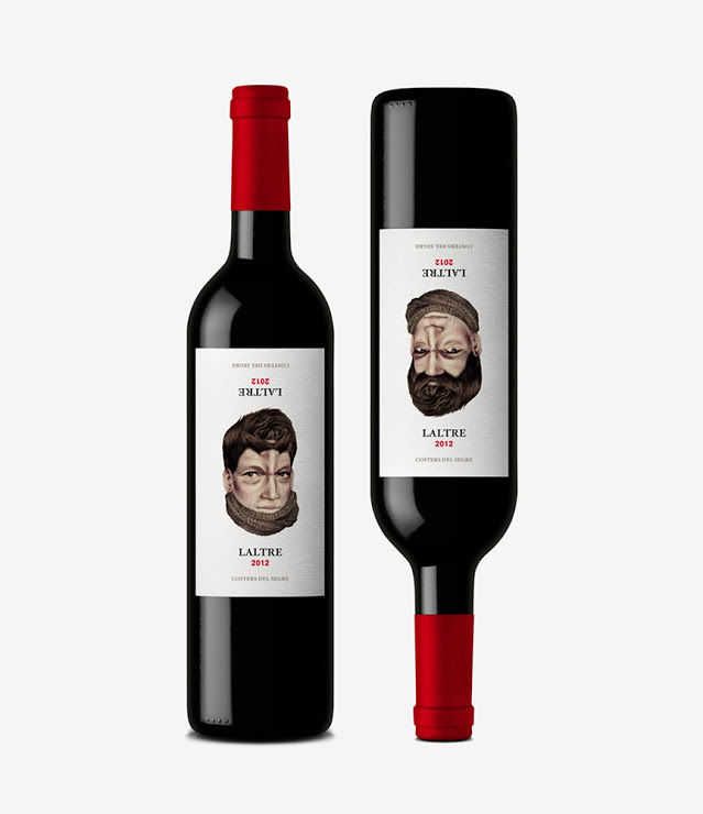 Topsy-Turvy Wine Bottles