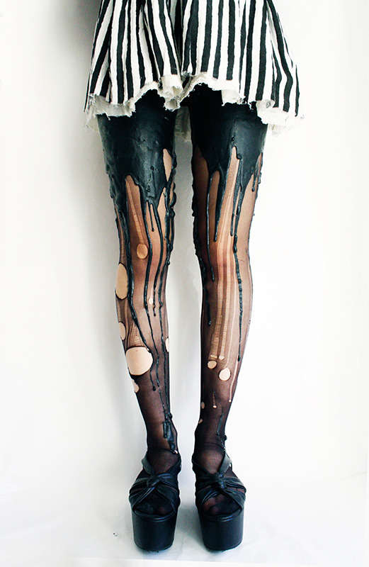 Candle Wax-Like Leggings