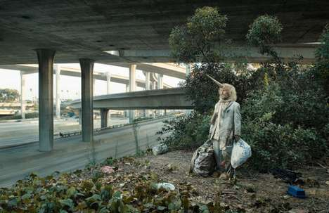 homeless unicorn photography urban legends by jeanyves
