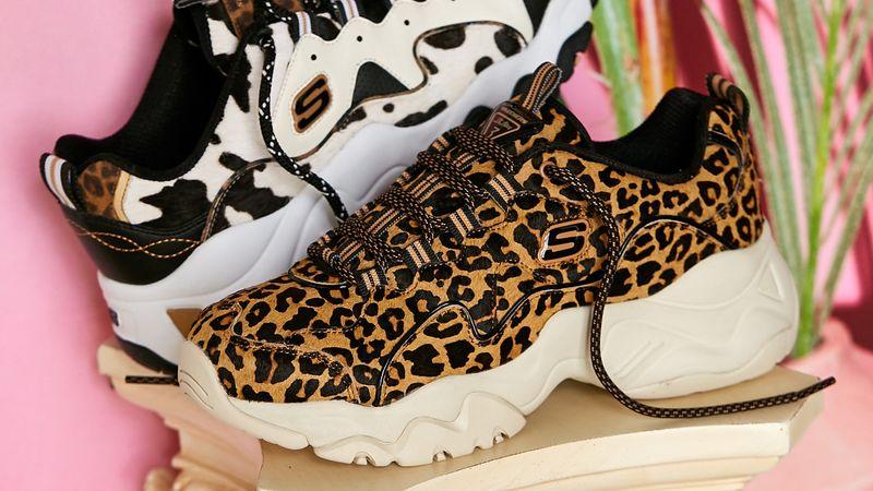 Nostalgic Animal Print Sneakers