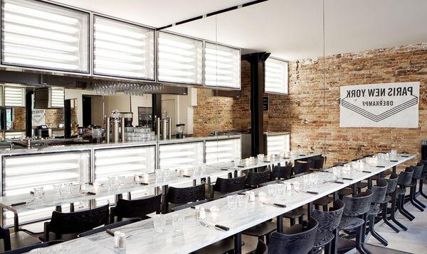 Industrial parisian bistros urban restaurant design