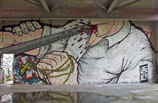 Violent Urban Street Art : urban street art | 600 x 392 jpeg 47kB