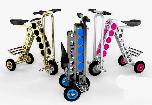 Neon Foldable Urban Scooters
