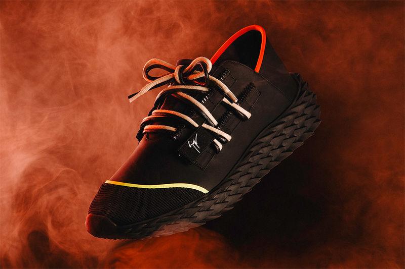 Scale-Like Neoprene Sneakers