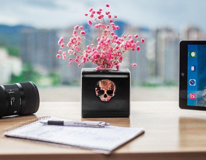 Desktop USB Skull Planters