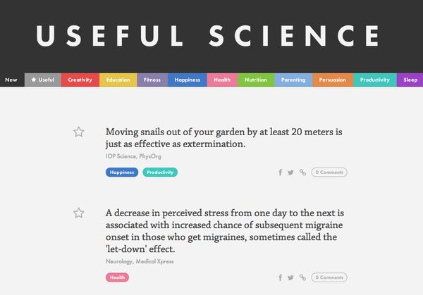 Practical Science Fact Sites