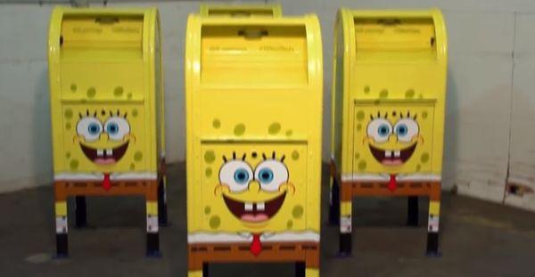 Cartoon Sponge-Edition Mailboxes
