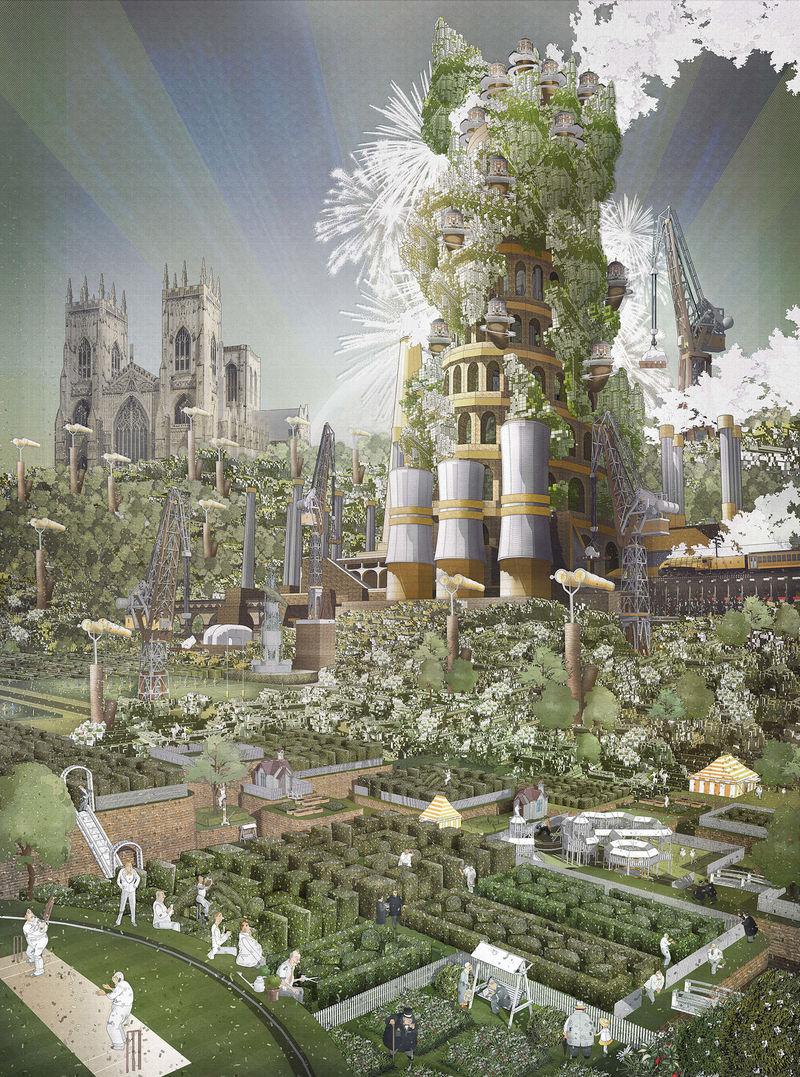 Illustrated Corporate Utopia Concepts