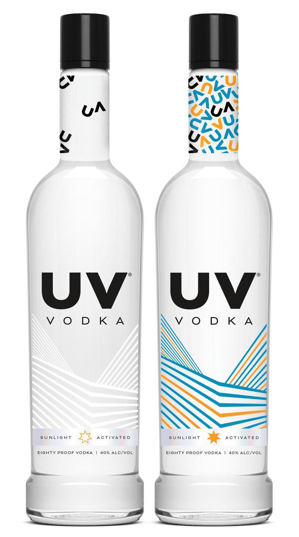 Sun-Activated Vodka Bottles