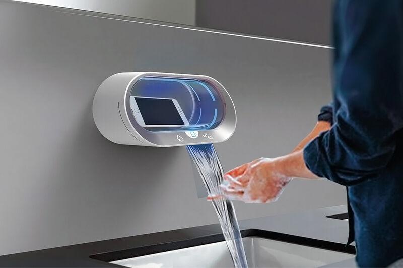 Smartphone-Sanitizing Bathroom Faucets
